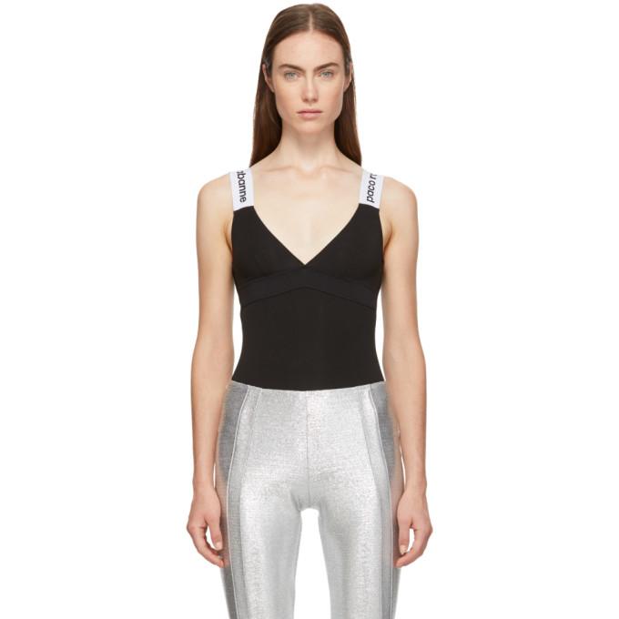 Image of Paco Rabanne Black Bodyline Bodysuit