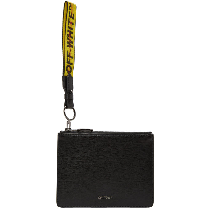 Off-White Black Double Flat Pouch