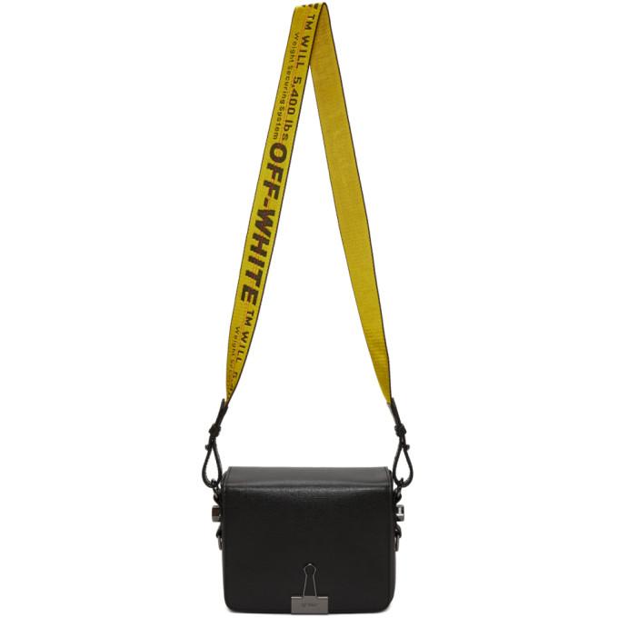 Off-White Black Binder Clip Flap Bag