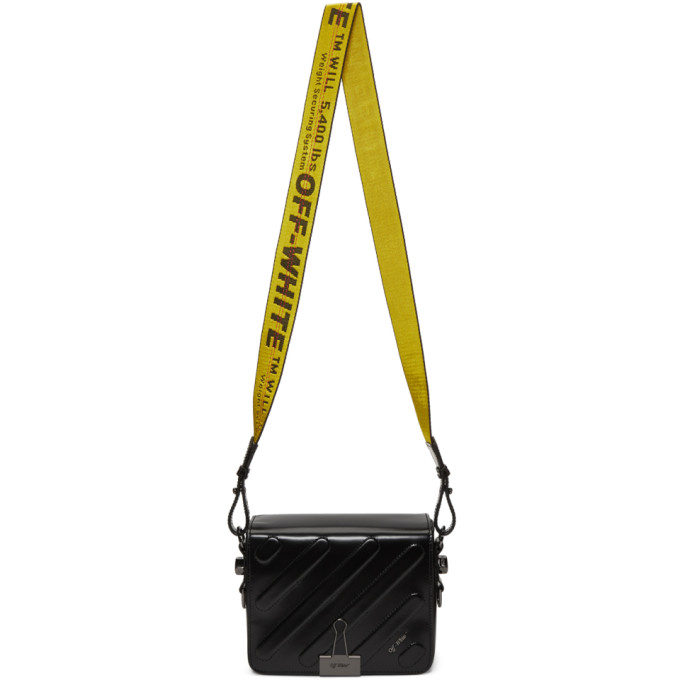 Off-White Black Padded Diagonal Flap Bag