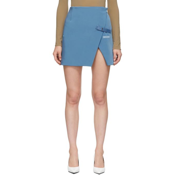 Stretch Wallet Mini Skirt in Blue