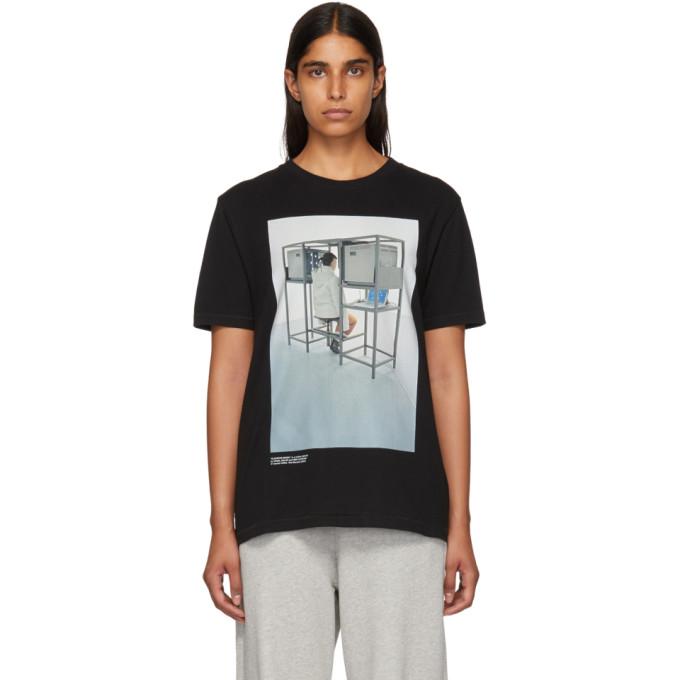 Off White Black Byredo Edition 'elevator Music' Slim T Shirt