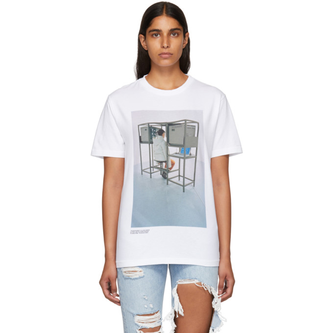 Off White White Byredo Edition 'elevator Music' Slim T Shirt