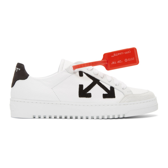 Off-White White Leather Sneakers