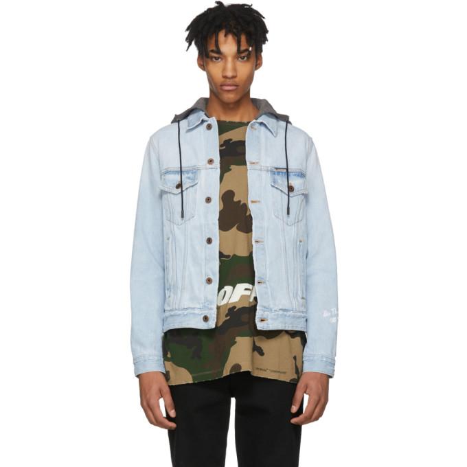 Off-White Blue Denim Hoodie Jacket