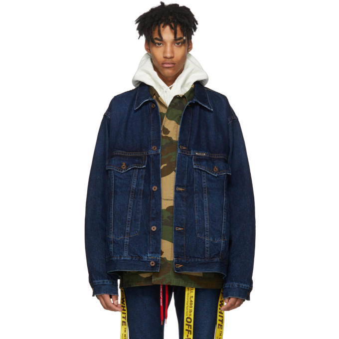 Off-White Blue Exaggerated Denim Jacket