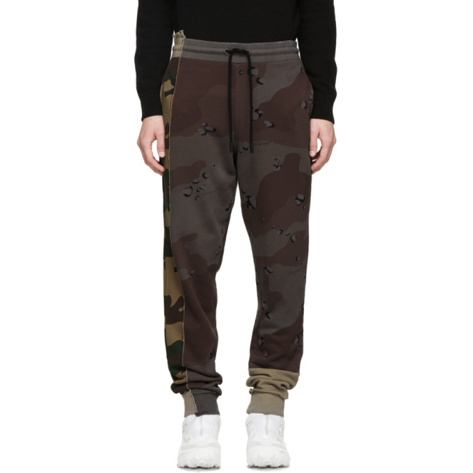 Off-White Reconstructed Cotton Sweatpants - 9901 All Over White