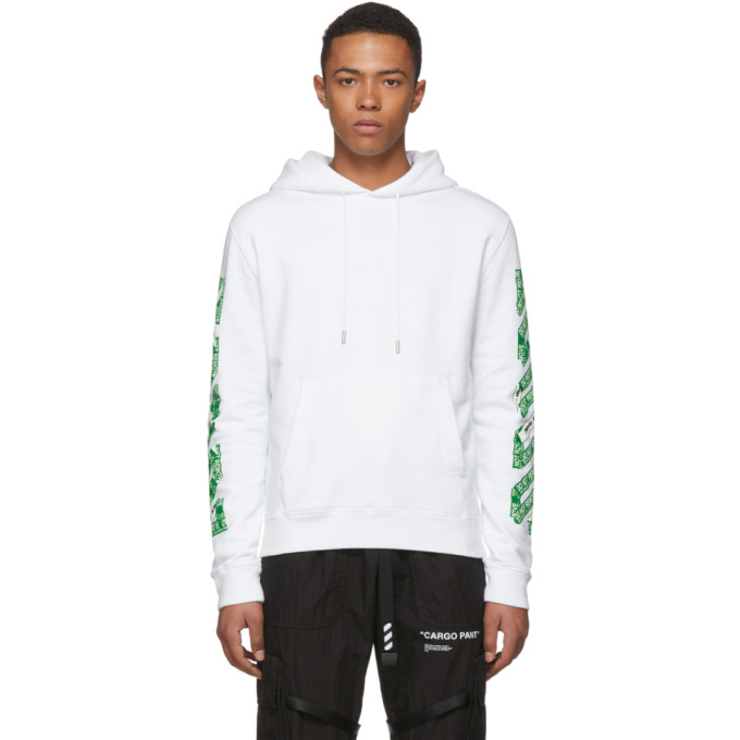 Off White Ssense Exclusive White 3d Diag Hoodie