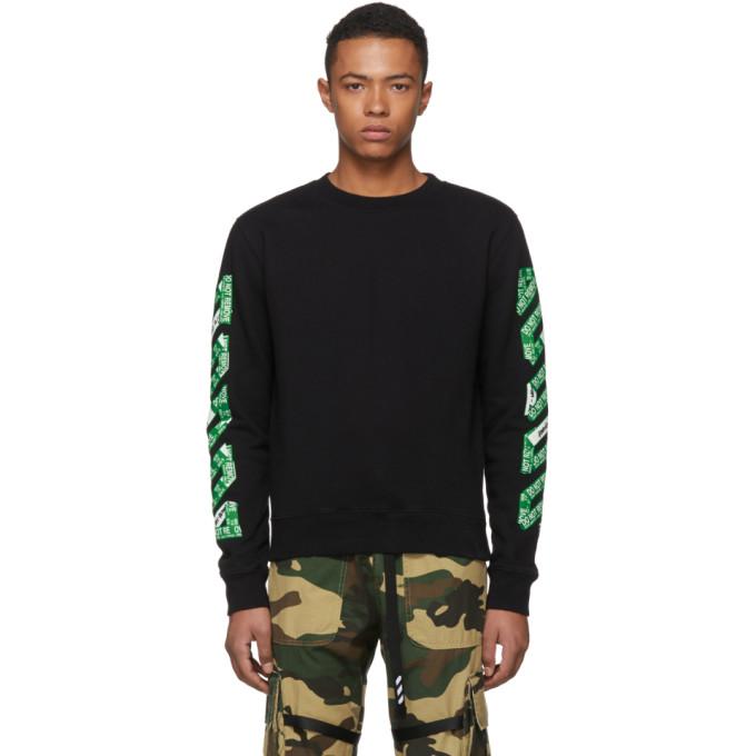 Off-White SSENSE Exclusive Black 3D Diagonal Sweatshirt