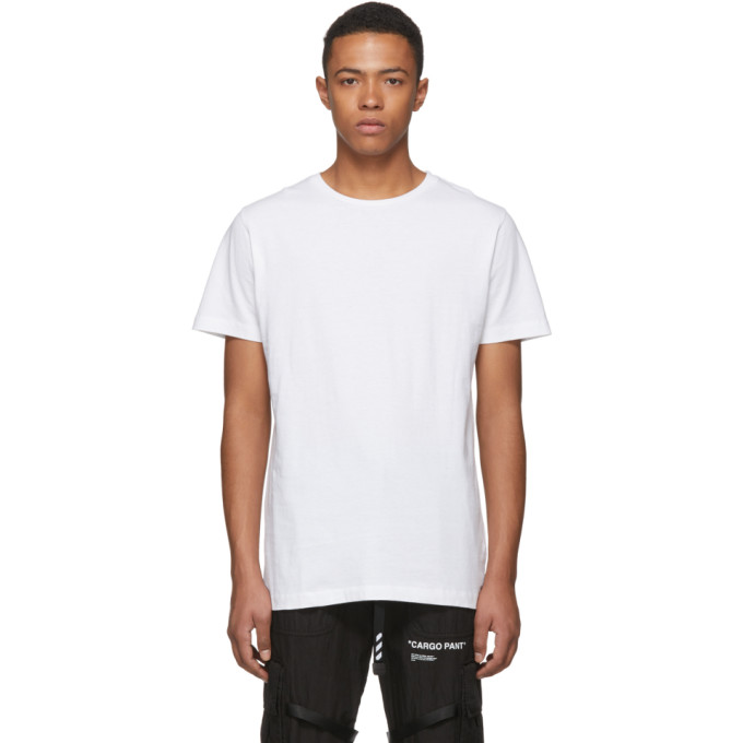 Off-White SSENSE Exclusive White 3D Diagonal T-Shirt
