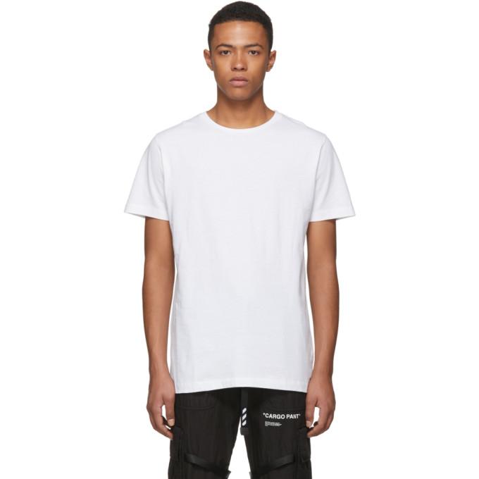 Off White Ssense Exclusive White 3d Diagonal T Shirt