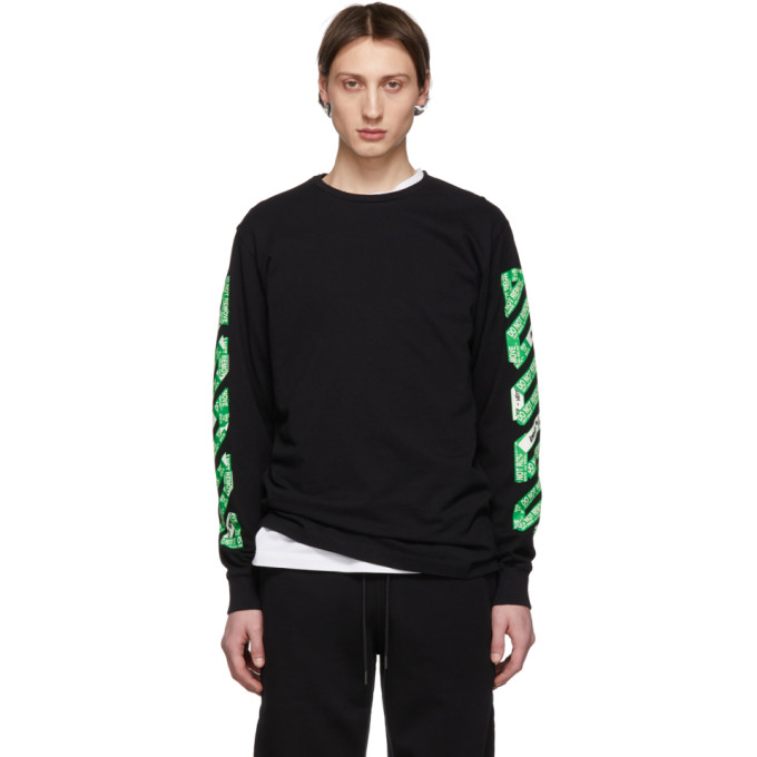 Off White Ssense Exclusive Black Diag Arrows Long Sleeve T Shirt