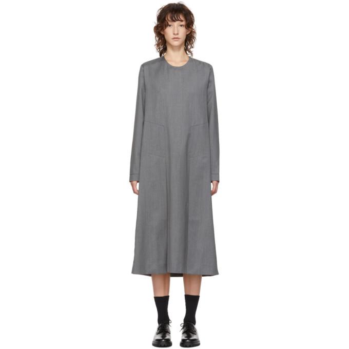 STUDIO NICHOLSON Studio Nicholson Grey Habit Split Dress