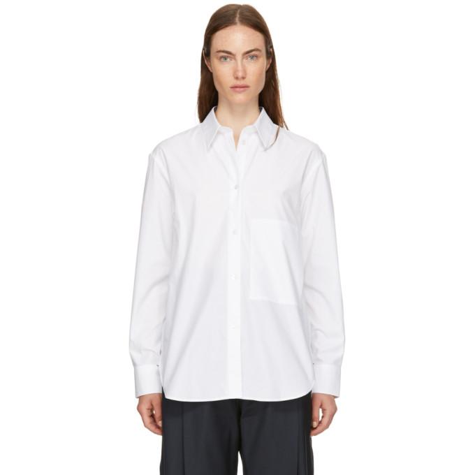 STUDIO NICHOLSON Studio Nicholson White Side Pocket Shirt