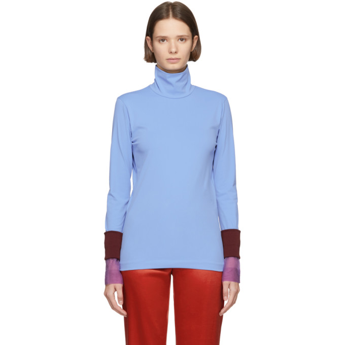 Image of Toga Blue Open Back Turtleneck