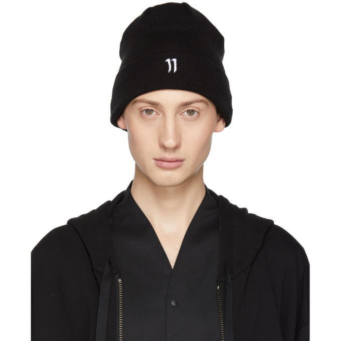 11 by Boris Bidjan Saberi Black New Era Edition Logo Beanie