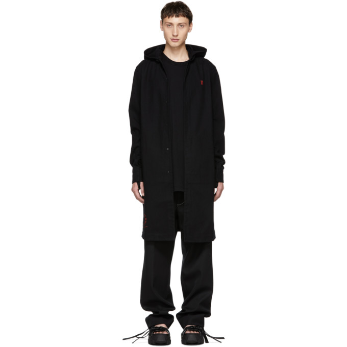 11 by Boris Bidjan Saberi Black The Master Number Hoodie