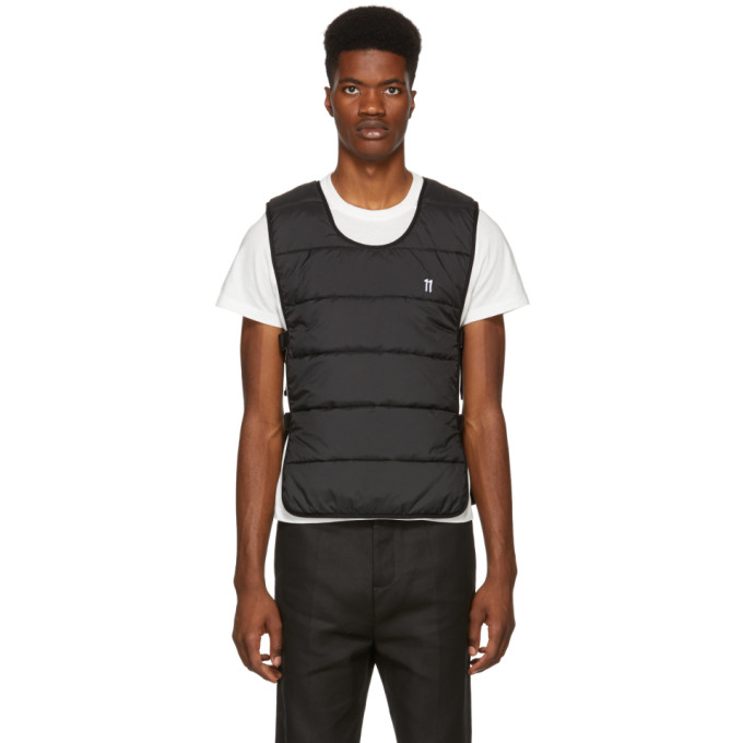 11 By Boris Bidjan Saberi 11 BY BORIS BIDJAN SABERI BLACK QUILTED VEST