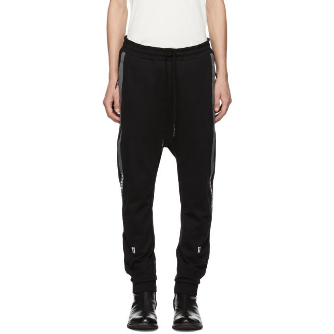 11 by Boris Bidjan Saberi Black Side Stripe Lounge Pants