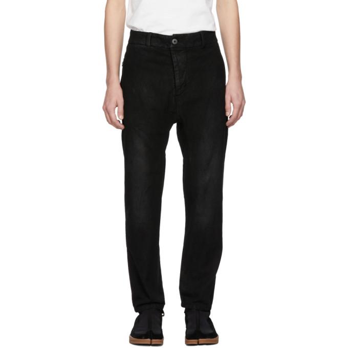 11 by Boris Bidjan Saberi Black Denim Crust Trousers