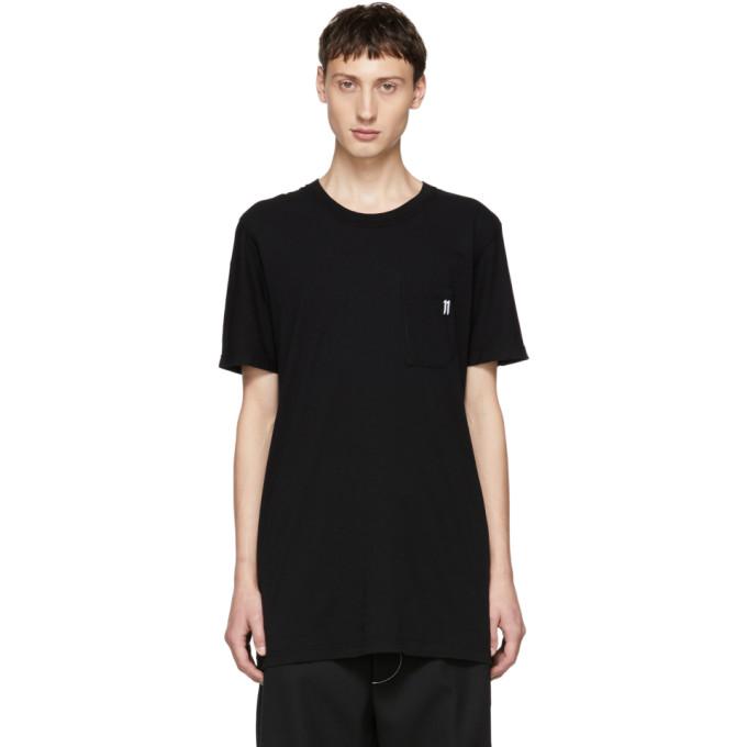 11 by Boris Bidjan Saberi Black Small Logo T Shirt