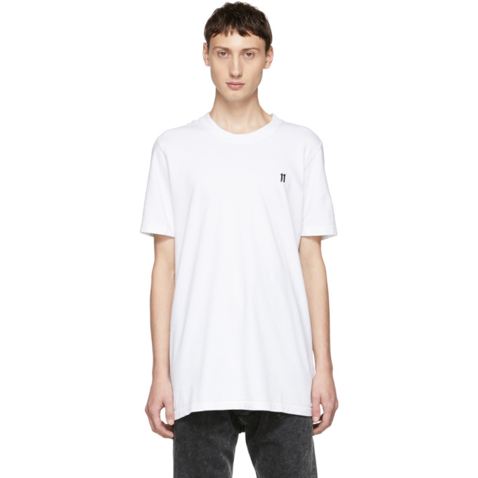 11 by Boris Bidjan Saberi White Small Logo T Shirt