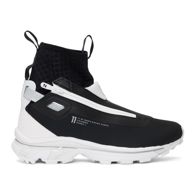 11 by Boris Bidjan Saberi Black and White Salomon Edition Bamba 3 Sneakers