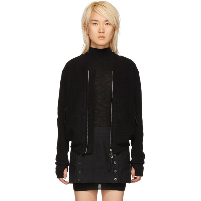 BORIS BIDJAN SABERI Boris Bidjan Saberi Black Wool And Cashmere Bomber Jacket