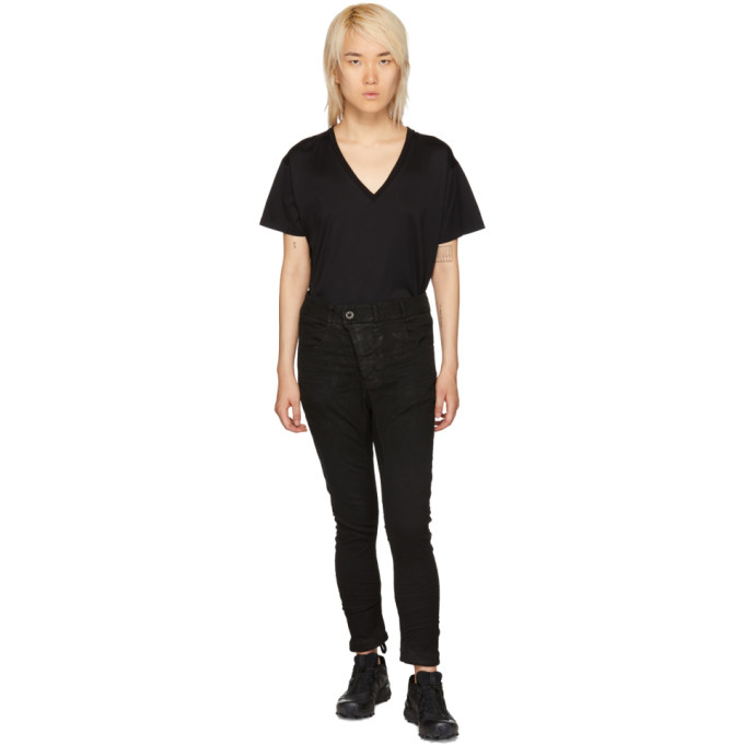 BORIS BIDJAN SABERI Boris Bidjan Saberi Black Vinyl-Coated Body-Molded Jeans