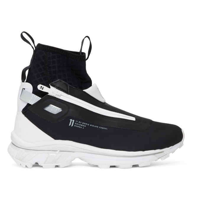 BORIS BIDJAN SABERI Boris Bidjan Saberi Black And White Salomon Edition Nordic Hybrid Sneakers in Black/Wht/Q