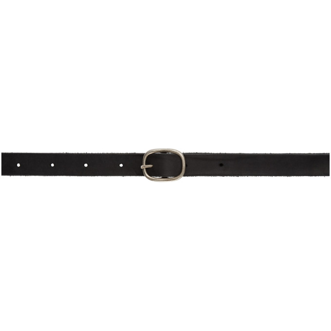 BORIS BIDJAN SABERI Boris Bidjan Saberi Black Leather And Sterling Silver Buckle Belt