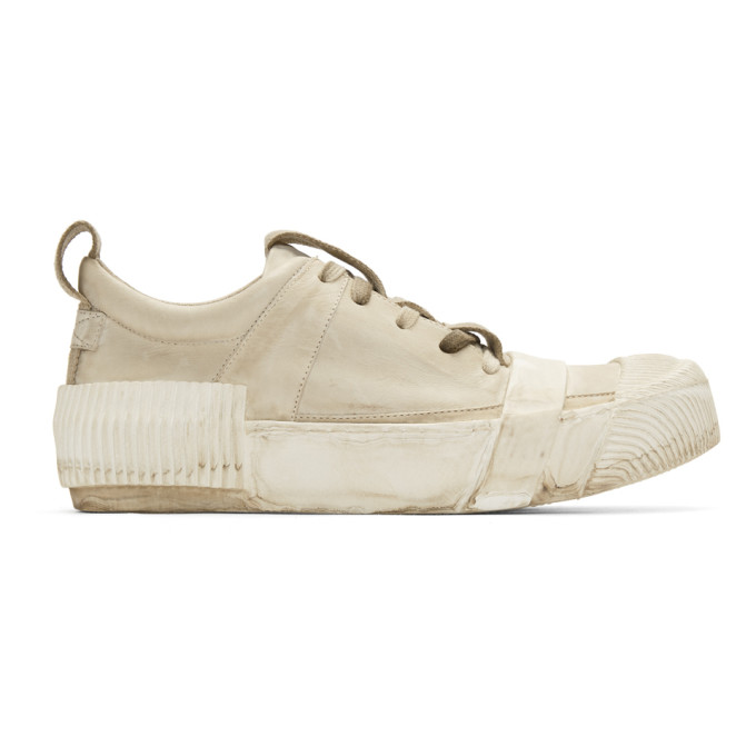 BORIS BIDJAN SABERI Boris Bidjan Saberi Grey Kangaroo Sneakers in Mud Grey