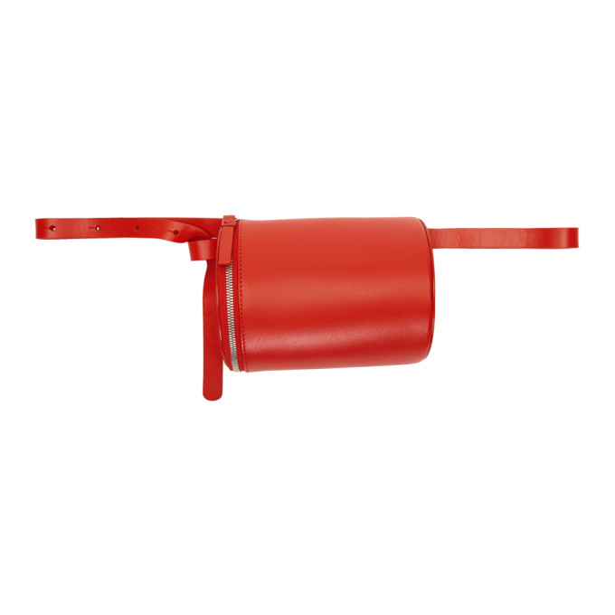 Building Block Ssense Exclusive Red Leather Belt Pouch in Tomato