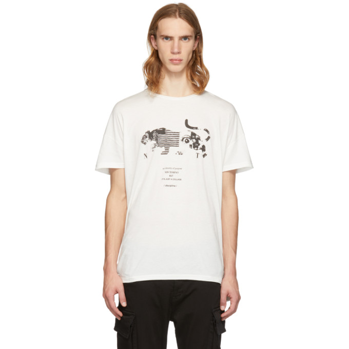 Diet Butcher Slim Skin T-shirt blanc Panther Collage