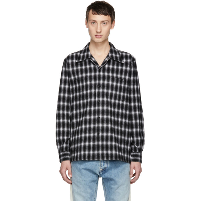 JOHNLAWRENCESULLIVAN Johnlawrencesullivan Black Flannel Check Shirt