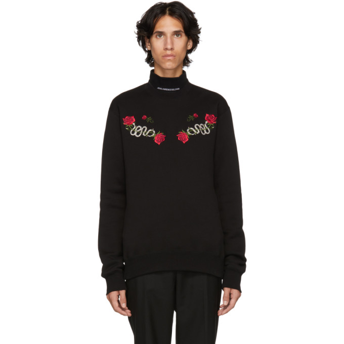 JOHNLAWRENCESULLIVAN Johnlawrencesullivan Black Embroidered Sweater