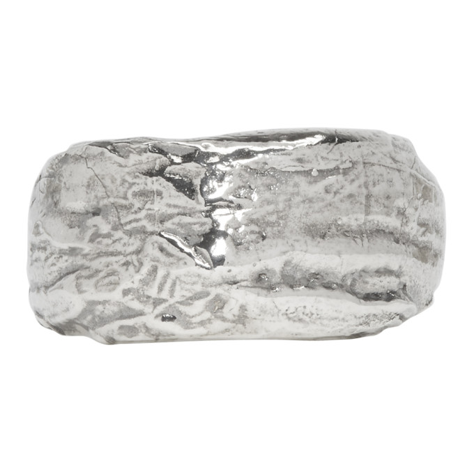 Pearls Before Swine Silver Wide Textured Band Ring