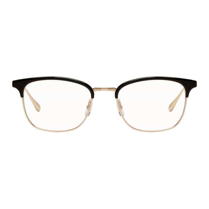 Garrett Leight Black & Gold Talbert 51 Glasses