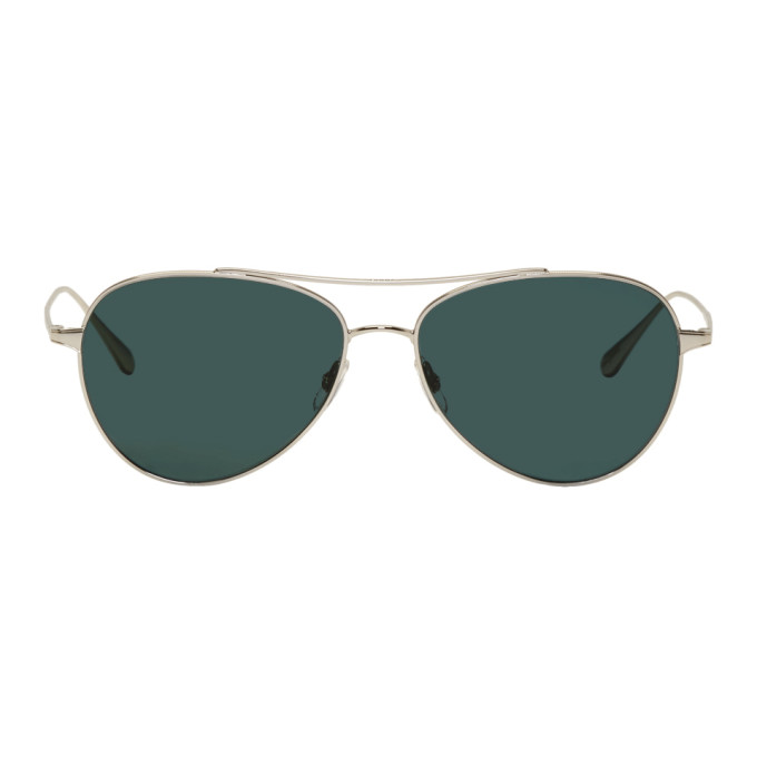 Garrett Leight Silver Culver 45 Sunglasses