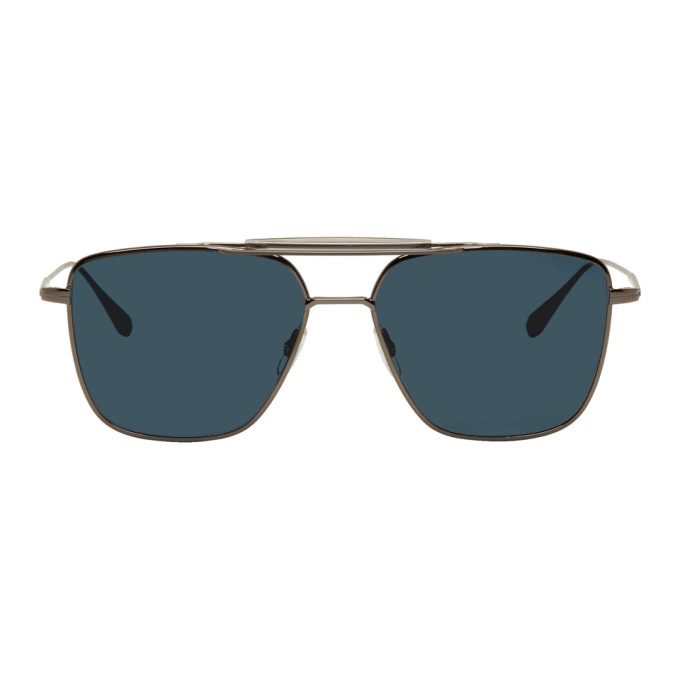 Garrett Leight Gunmetal Convoy 56 Sunglasses