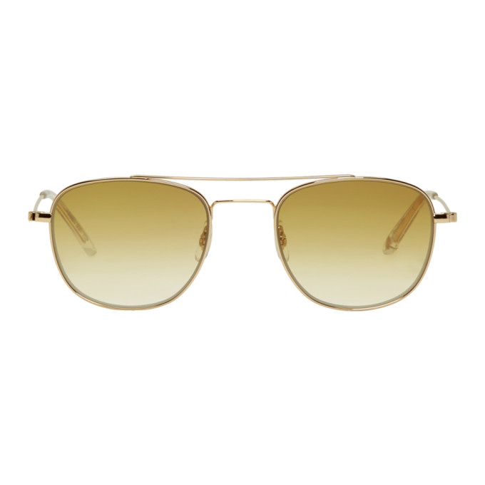 Garrett Leight Gold Club House Sunglasses