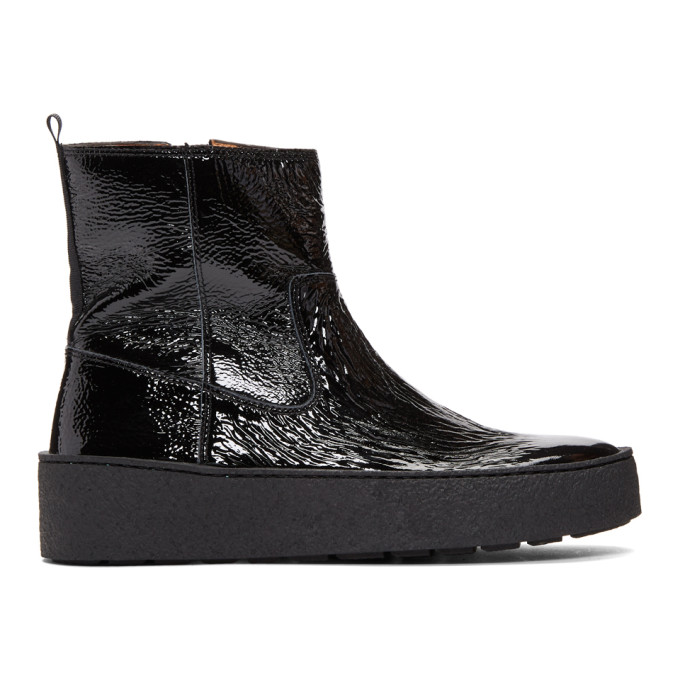 Won Hundred Black Ramona Platform Boots