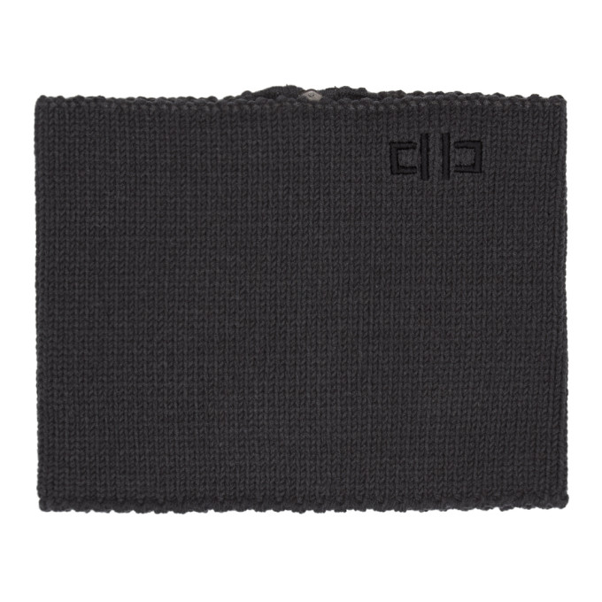 Image of D by D Grey Zip-Up Neck Warmer