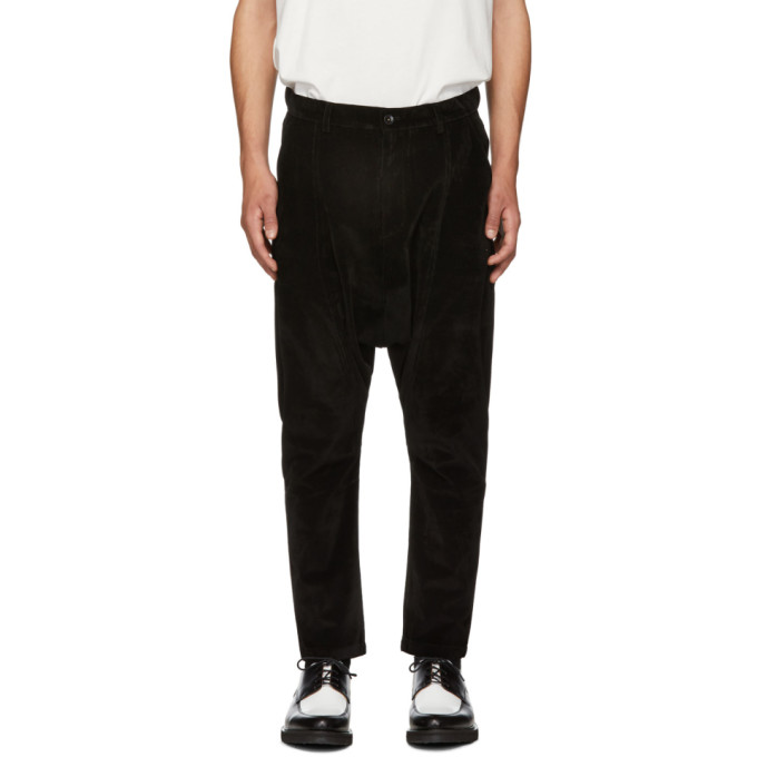 Image of D by D Black Dropped Inseam Trousers