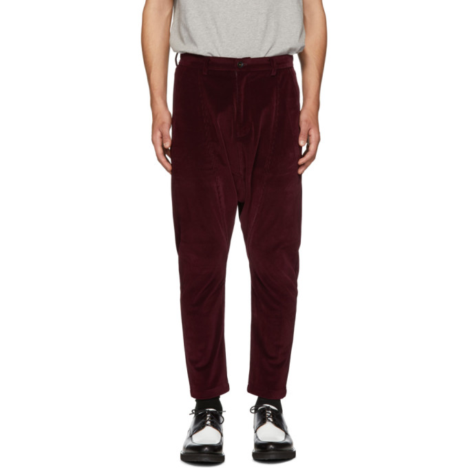 Image of D by D Burgundy Dropped Inseam Trousers