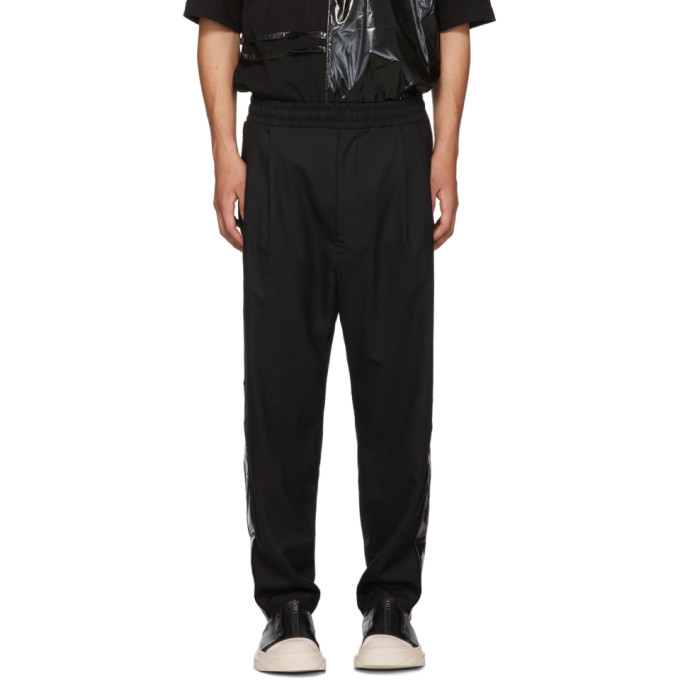 Image of D by D Black Glossy Stripe Trousers