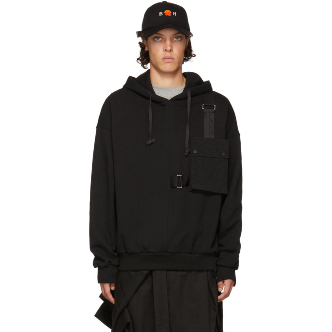 Image of D by D Black Outpocket Hoodie