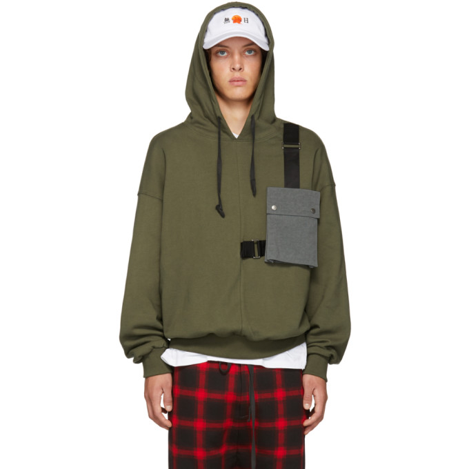 Image of D by D Green Outpocket Hoodie