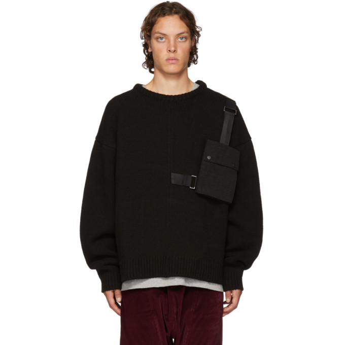 Image of D by D Black Outpocket Sweater