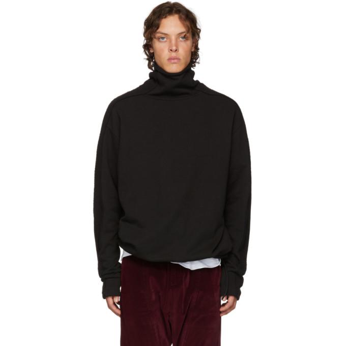Image of D by D Black Raw Cut Turtleneck Sweatshirt